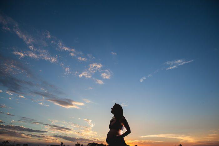 サンセットスカイと妊婦
