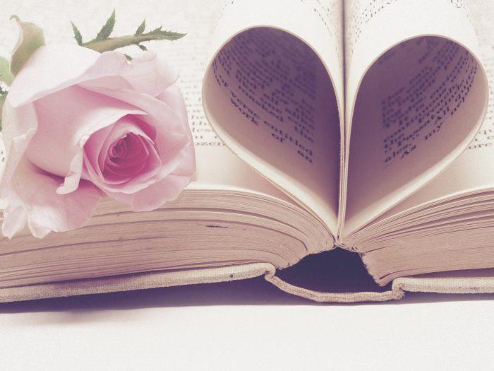 バラとページで♡